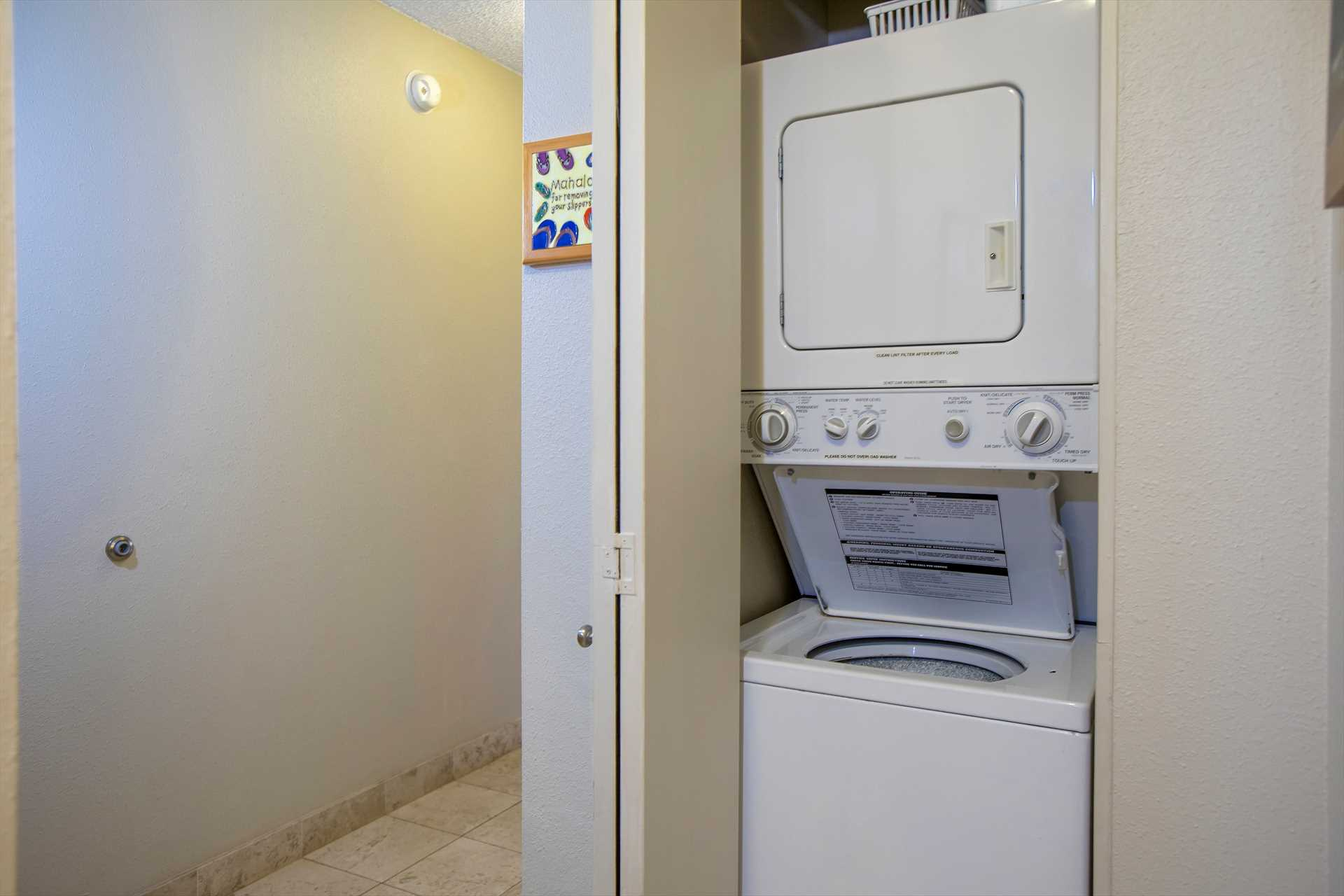 Washer and dryer in condo for convenience