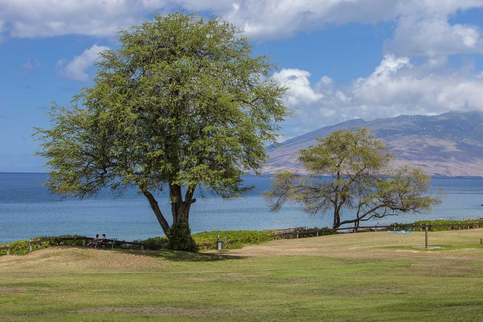Breathtaking and expansive Kamaole Beach Park II is directly