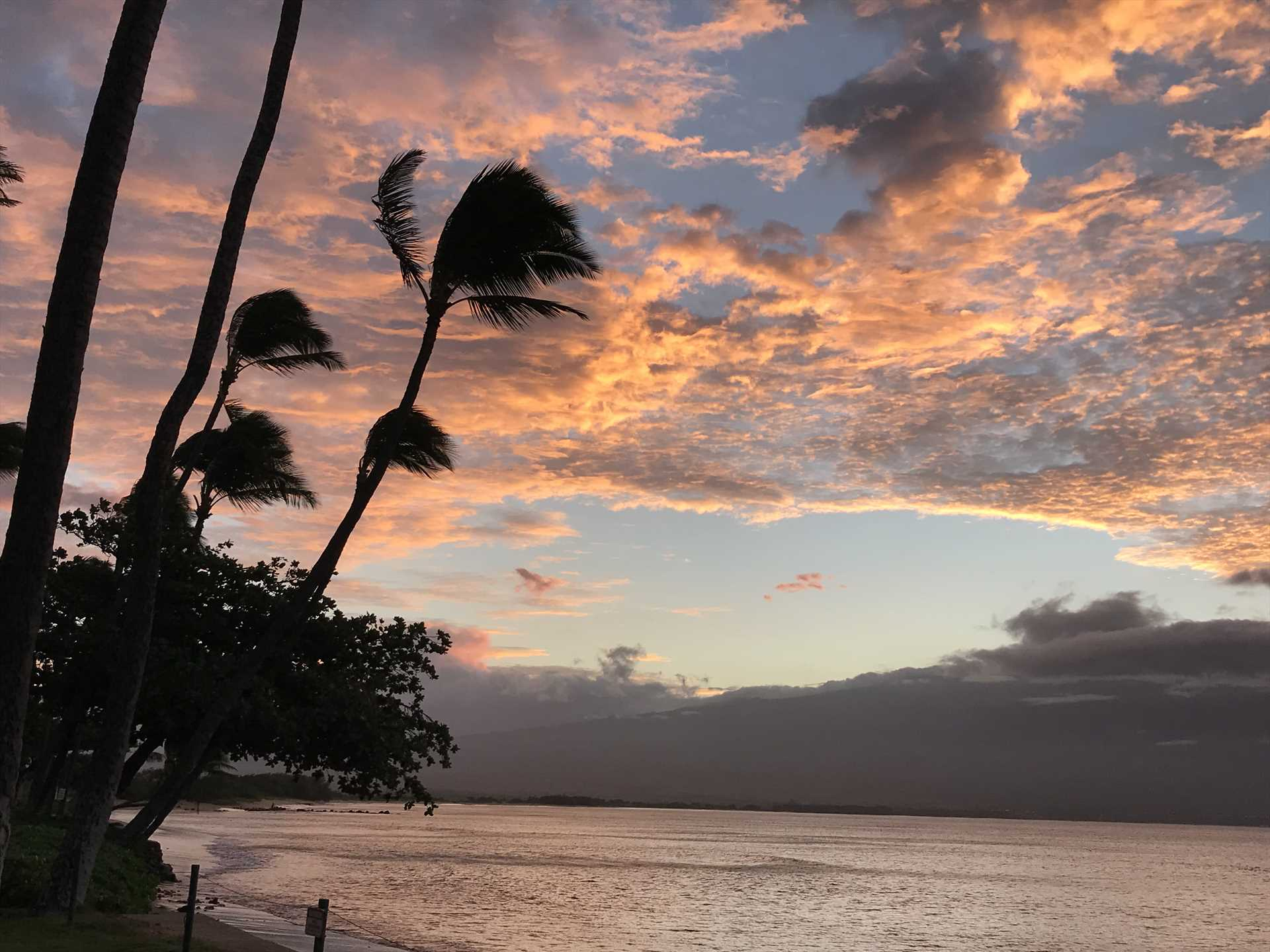 Enjoy epic sunsets from Kanai A Nalu as you look out over Ma