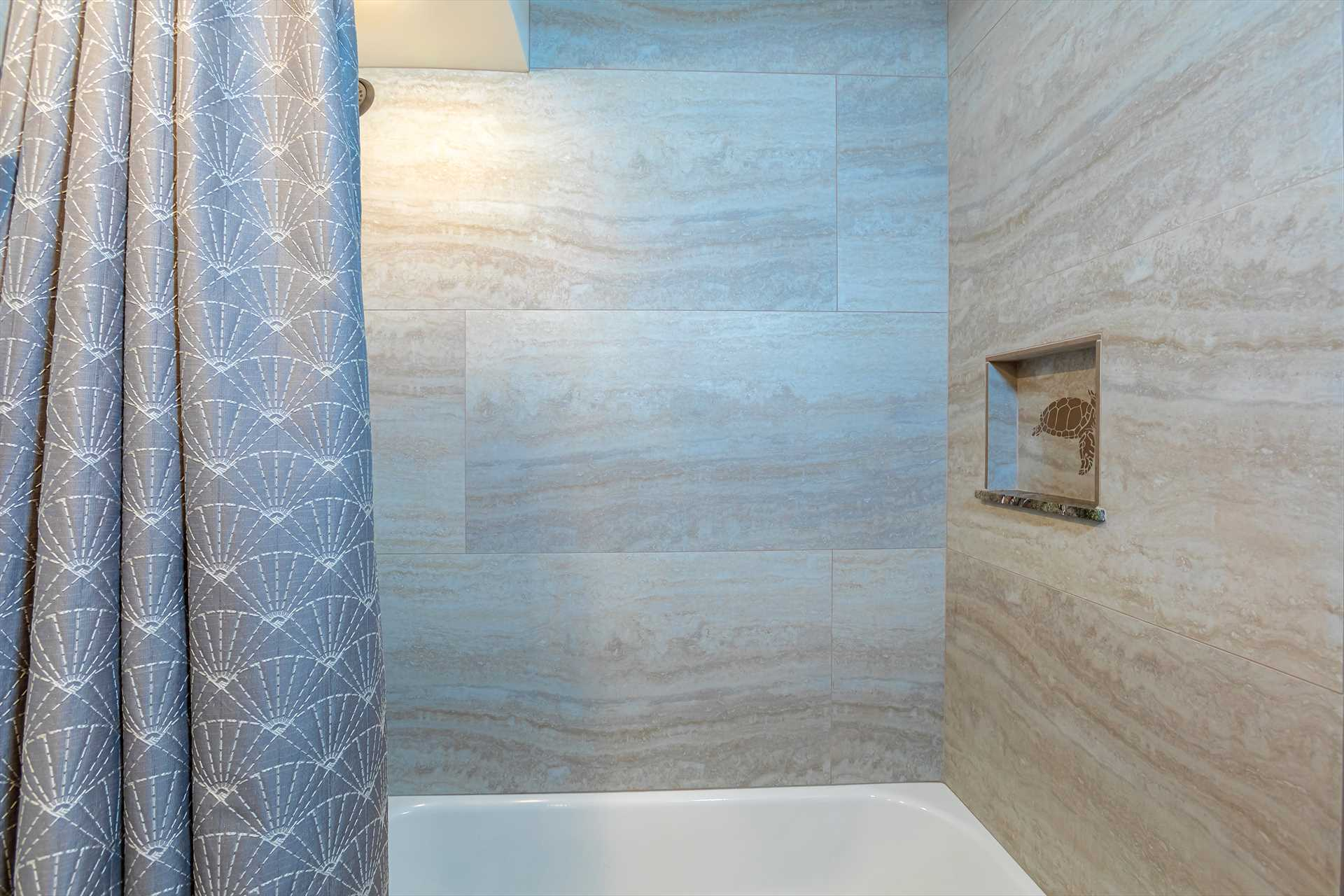 2nd bathroom with tub and shower combination