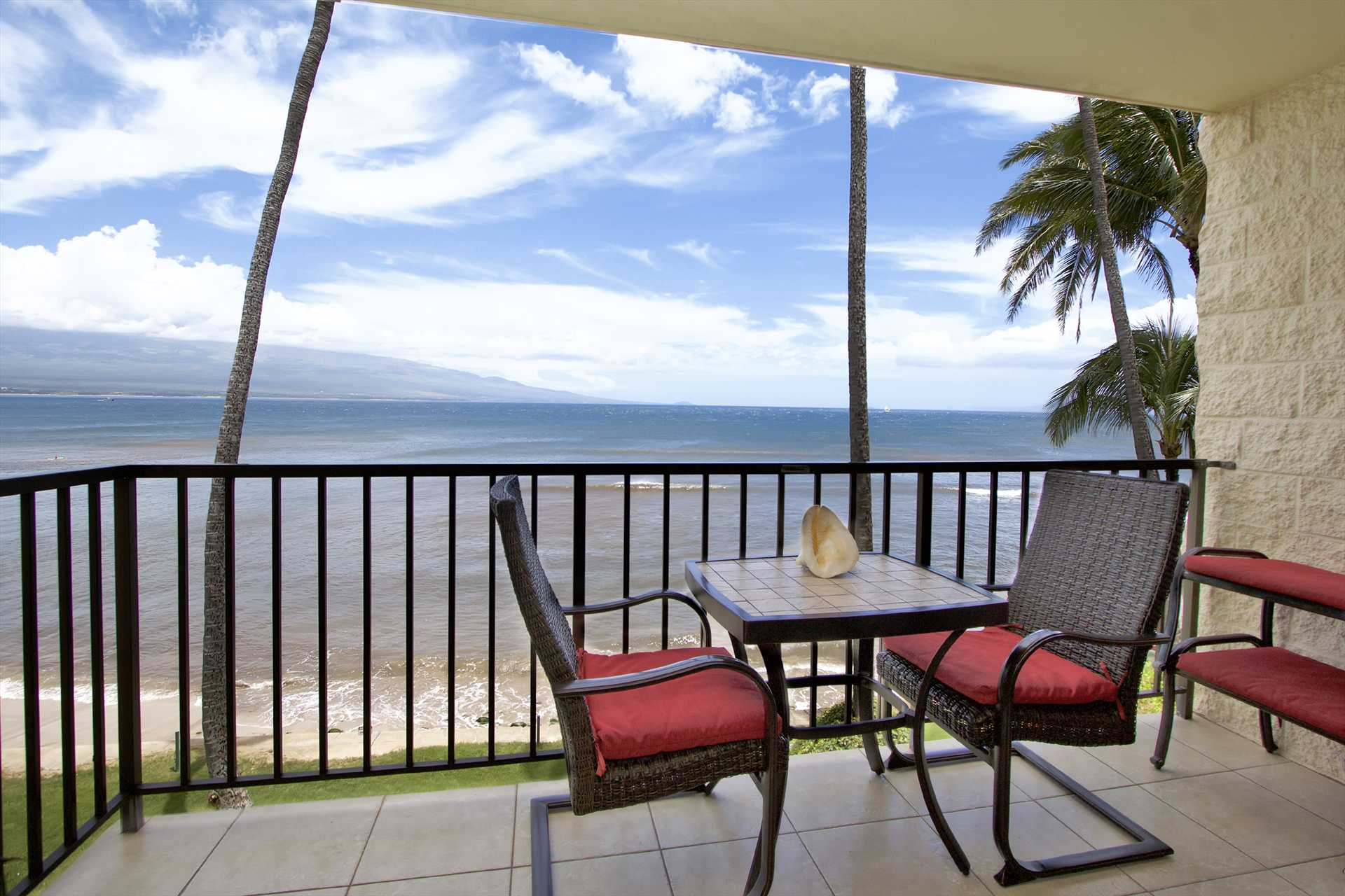 Enjoy the view from your direct oceanfront lanai