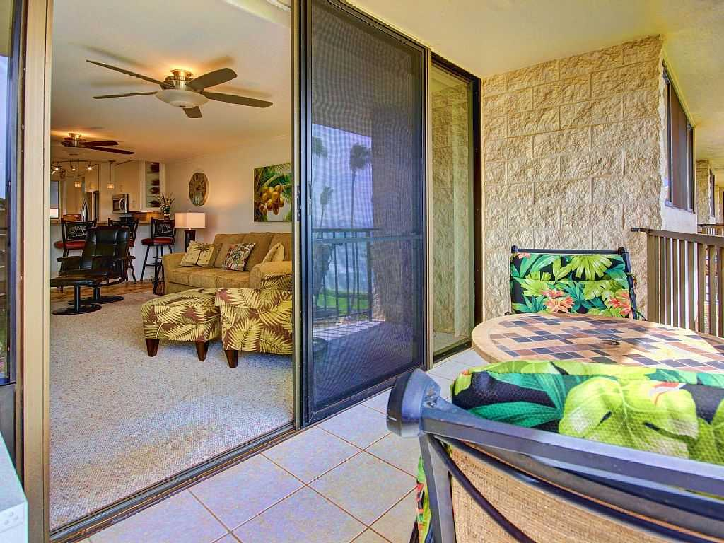 Lanai into living room of Kanai A Nalu 414