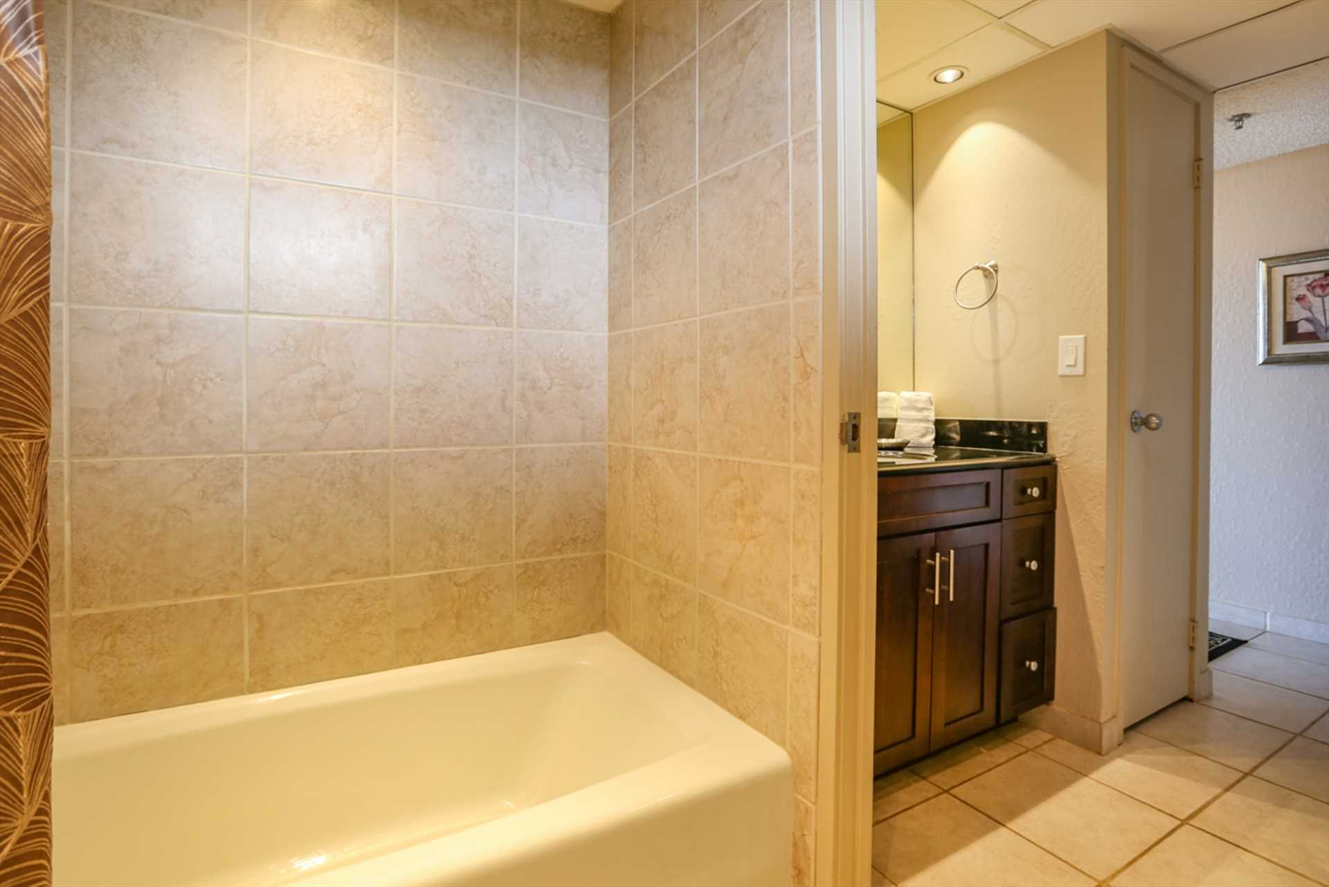 Shower and bath combination