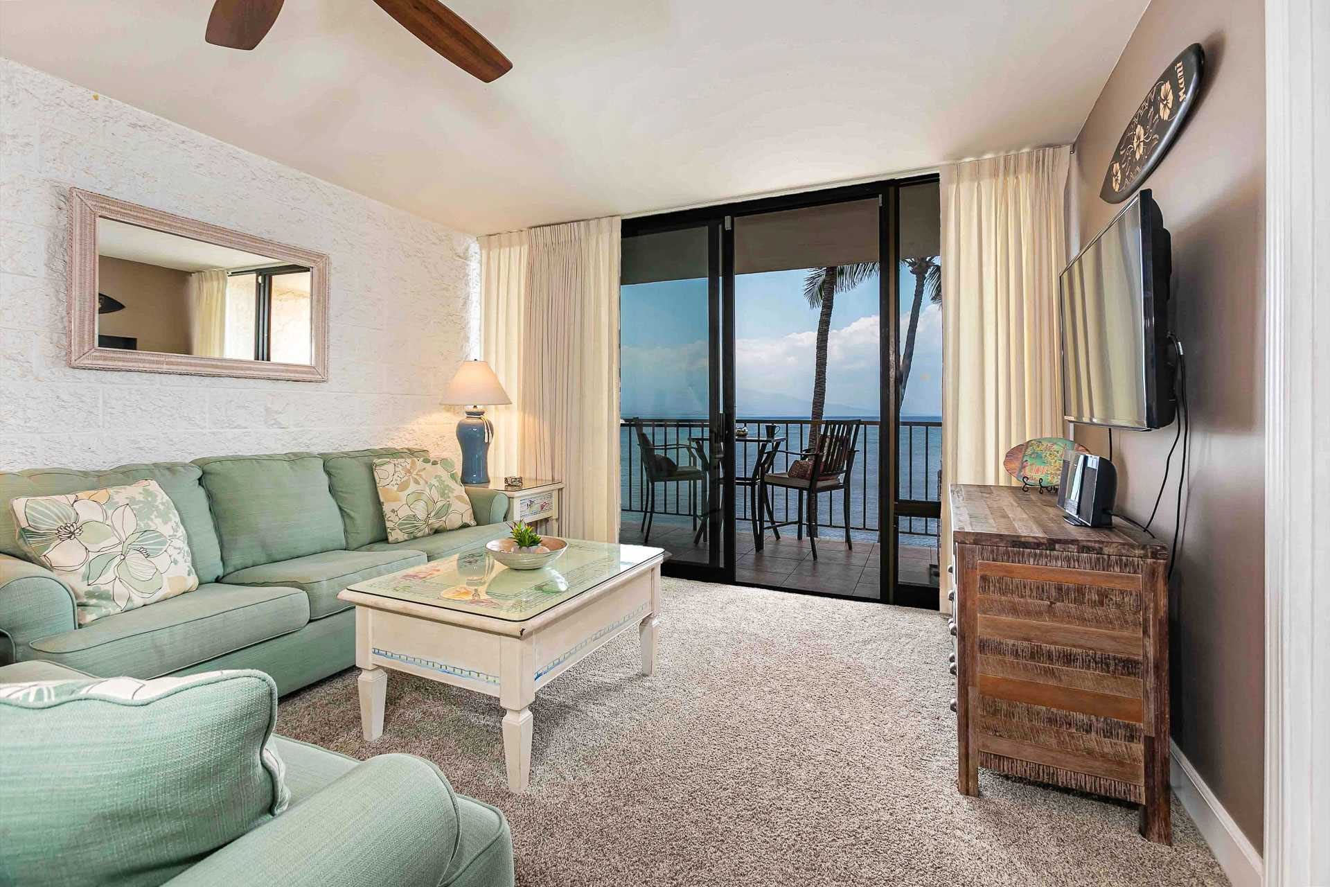 Enjoy the ocean view from your living room.