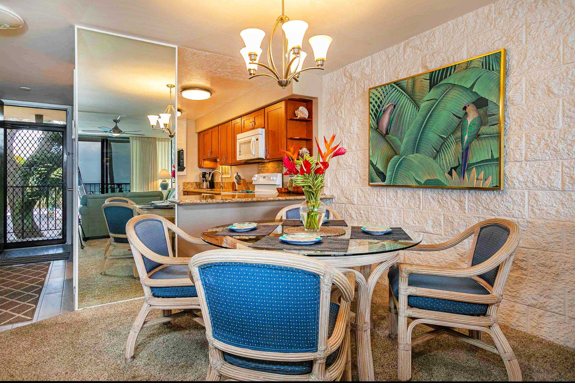 Dining area and kitchen have great ocean views too!